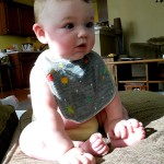 Wordless Wednesday: Just a diaper and a bib!