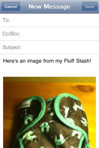 Fluff Stash App Email Share