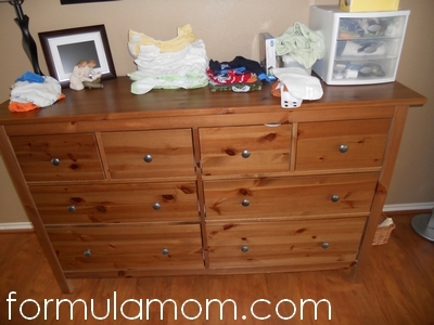 Organizing Cloth Diapers in a Dresser