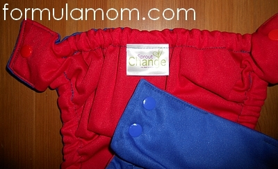 Sprout Change cloth diaper reversible shell