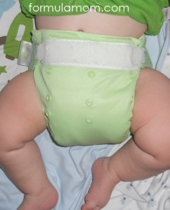 Night Time cloth diaper solution double stuffed BumGenius pocket