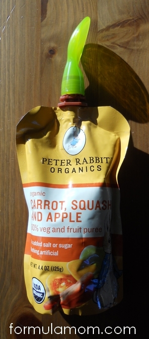 Peter Rabbit Organics pouch with Boon spoon
