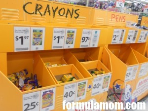 Crayons for Back to School at Walmart