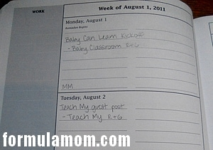dotmine day planner daily schedule