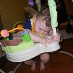 Wordless Wednesday: Jumparoo 1, Baby 0.