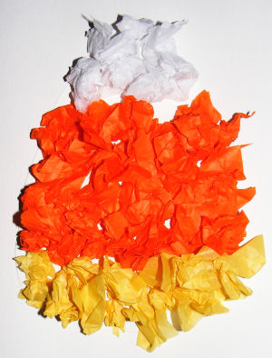 Tissue Paper Candy Corn