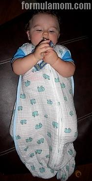 Aden + Anais muslin sleeping bag