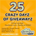 CouponCabin's 25 Crazy Dayz of Giveawayz: Win Gifts for the Whole Family! #CouponCabinHop