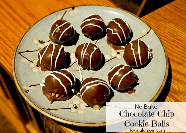 No Bake Chocolate Chip Cookie Balls #recipe #cookies