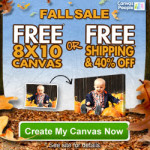 Holiday Gift Idea: FREE Photo Canvas Perfect for Halloween & Christmas