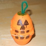 Egg Carton Halloween Pumpkin Craft