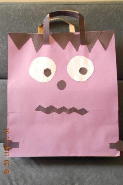 Halloween Trick or Treat Bag Craft