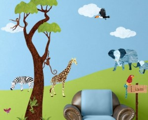 My Wonderful Walls Jungle Safari Wall Sticker Kit