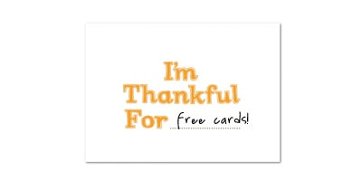 Free Thanksgiving Card From Tiny Prints!