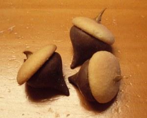 hershey kiss acorns