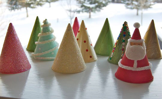 holiday crafts cones
