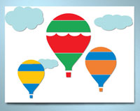 My Wonderful Walls Hot Air Ballon Canvas Wall Art