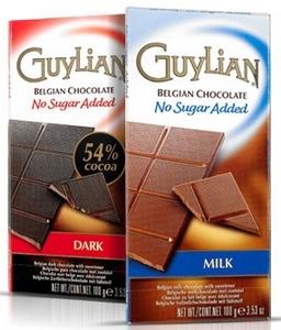 Guylian No Sugar Added Chocolate Bars
