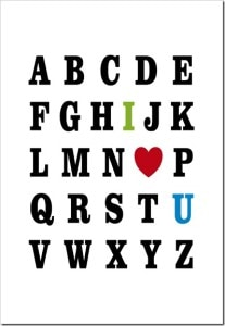 ABC I Love You Valentine's Day Printable