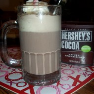 Tasty Tuesday: Mint Hot Chocolate Float for Valentine's Day