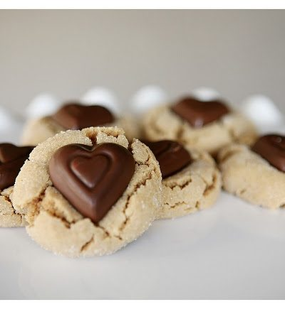 Peanut Butter Blossoms Valentine's Style