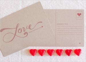 Valentine's Day Postcard Printable