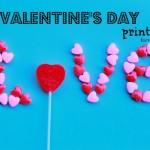 5 Free Valentine's Day Printables  #valentinesday
