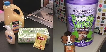 Cold, cough, & flu kit with 100% Florida orange juice