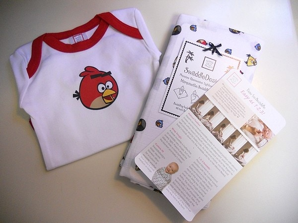 Angry Birds Go Baby with SwaddleDesigns!