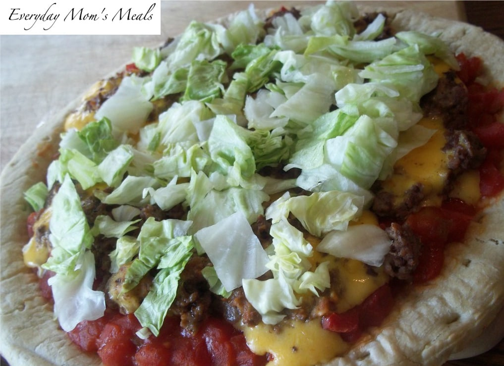 Spicy Cheeseburger Pizza Recipe