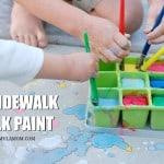 Summer Activities: DIY Sidewalk Paint