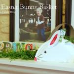 DIY Easter Bunny Basket Craft #easter