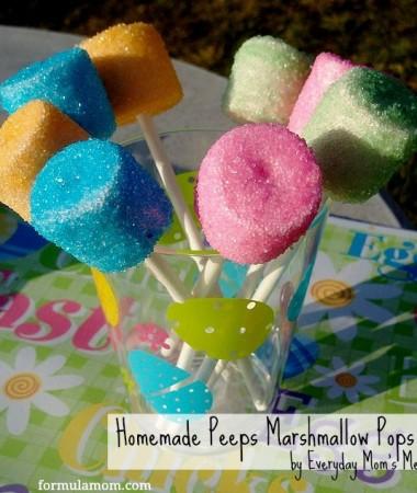 Homemade Peeps Marshmallow Pops #peeps #easter