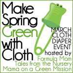 Make Spring Green with Cloth Diapers