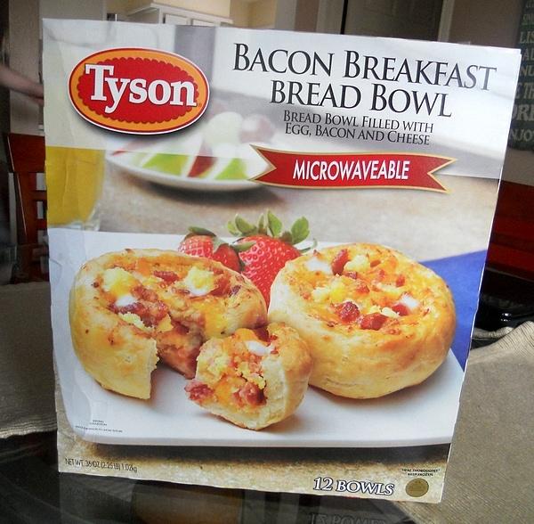 Tyson Bacon Breakfast Bread Bowls