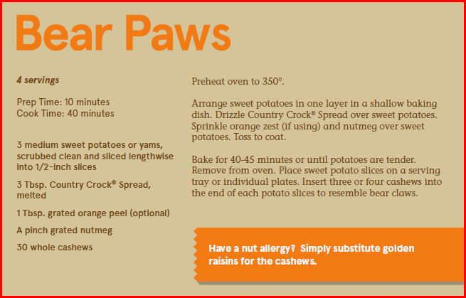 Country Crock Bear Paws Recipe
