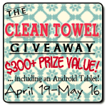 Win Over $300 in Prizes in The Clean Towel Giveaway