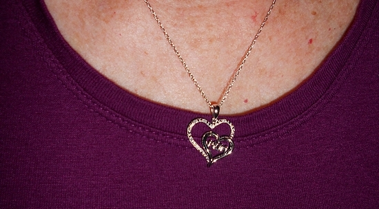 Mother's Day Gift Idea: MOM Heart Pendant from Helzberg Diamonds