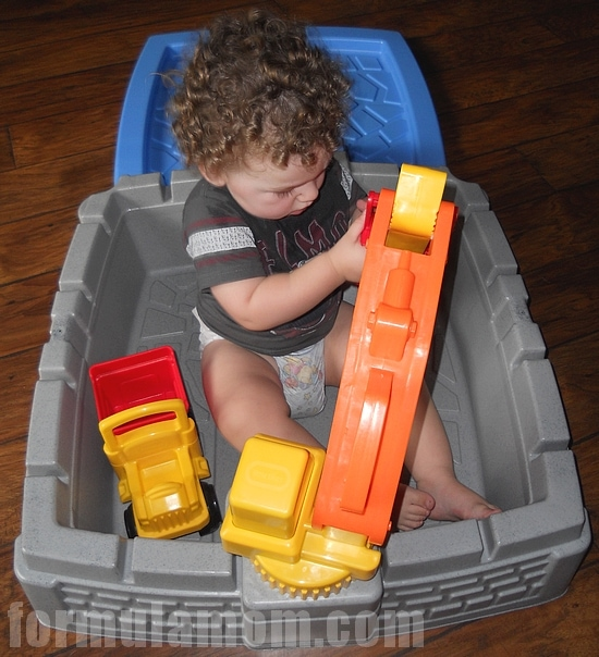 Little Tikes Big Digger Sandbox is fun even without sand!