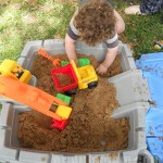 Entering a Construction Zone with Little Tikes Big Digger Sandbox!