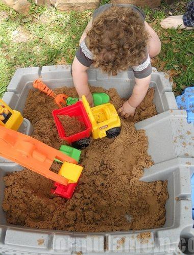 Under Construction with Little Tikes Big Digger Sandbox