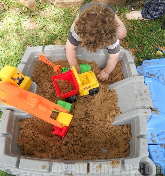 Under Construction with Little Tikes Big Digger Sandbox