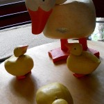 Four Little Ducks Went Out to Play with Plow & Hearth Garden Sculptures