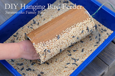 DIY Hanging Bird Feeder Craft for Nature Loving Moms! #mothersday