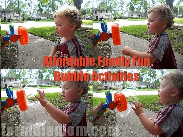 Affordable Family Fun: Bubble Activities