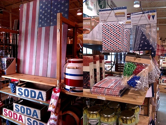 Red, white, and blue at World Market!