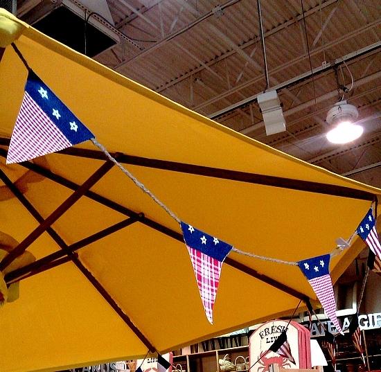 American flag garland at World Market