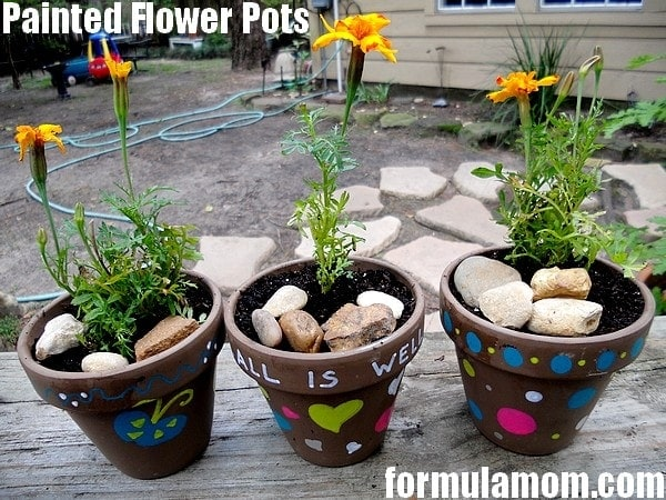 Painted Flower Pots Craft with Painters Paint Markers #ExpressYourself