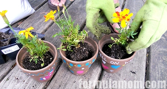 Afford Family Fun DIY Painted Flower Pot