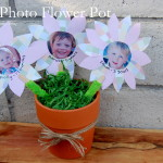 Kids Crafts: Photo Flower Pot #mothersday
